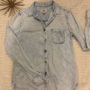 Like New American Eagle Jean Button Down Top XS